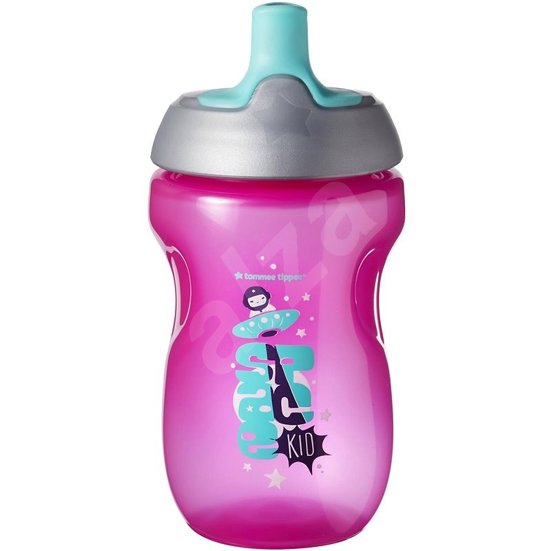 Tommee Tippee Csöpögésmentes sport kulacs 12 m+ Pink, 300 ml - Gyerek kulacs