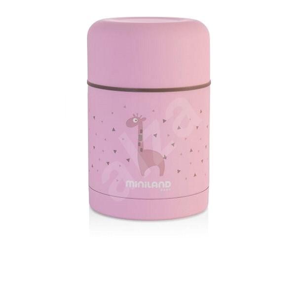 MINILAND Silky termosz ételehez 600 ml - rózsaszín - Gyerek termosz