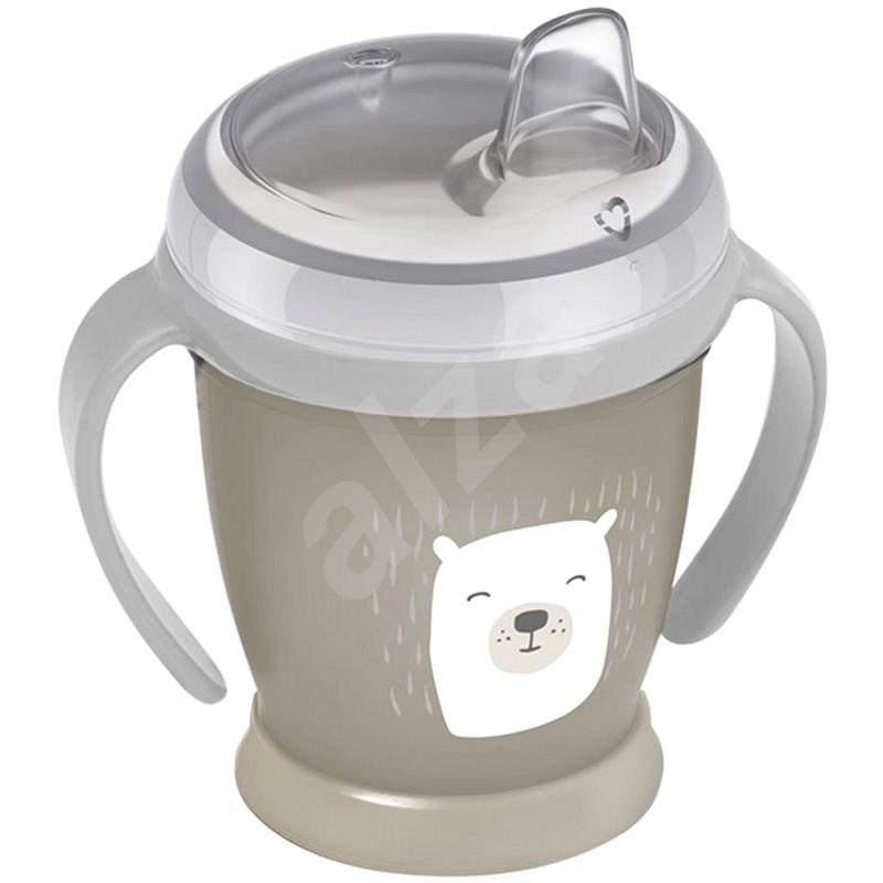 LOVI csöpögésmentes ivópohár BUDDY BEAR 210 ml - Tanulópohár