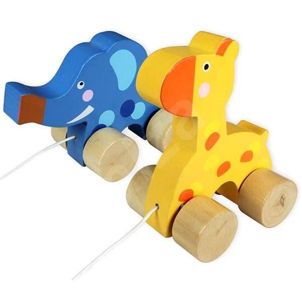 Pet on a string Giraffe & Elephant  - Cot Toy