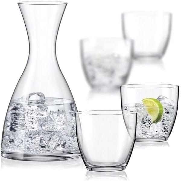 Crystalex WATER SET kancsó és vizespoharak, 5 db - Dekantáló
