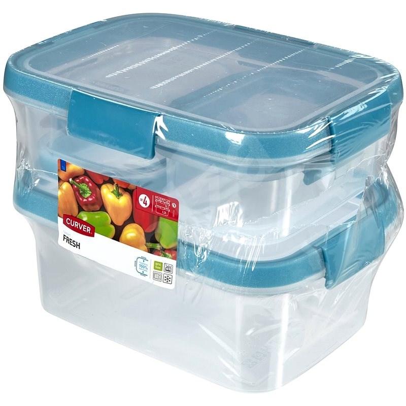 CURVER SMART FRESH 2x0,2L+1L+1,2L - Ételtároló doboz szett