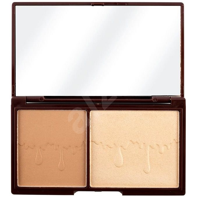 I HEART REVOLUTION Chocolate Bronze and Glow - Kontúrozó paletta