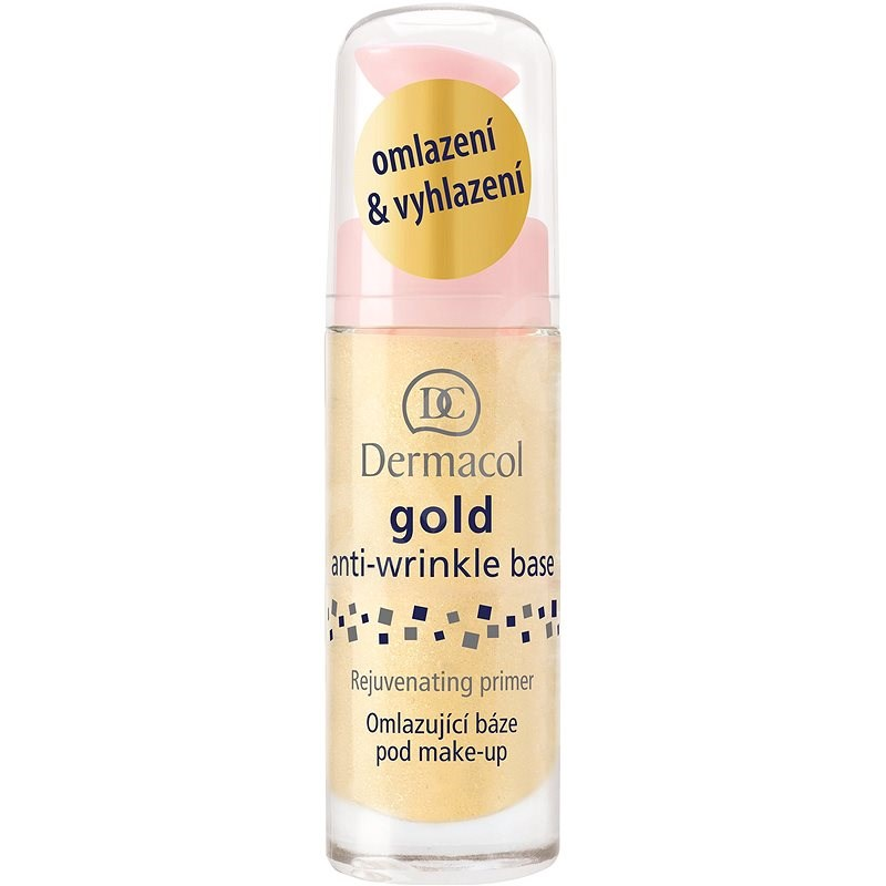 DERMACOL Gold Anti-Wrinkle Make-Up Base Rejuvenating Primer 20 ml - Alapozó