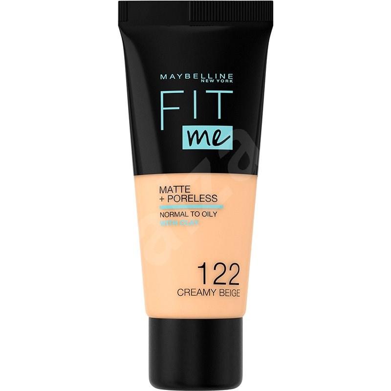MAYBELLINE NEW YORK Fit Me! Matte & Poreless Foundation 122 Creamy Beige 30 ml - Alapozó