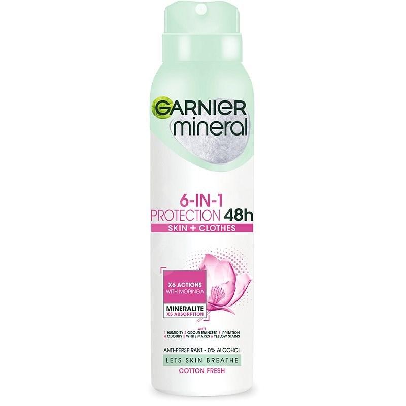 GARNIER Mineral Protection Cotton 48H Spray izzadásgátló 150 ml - Női izzadásgátló