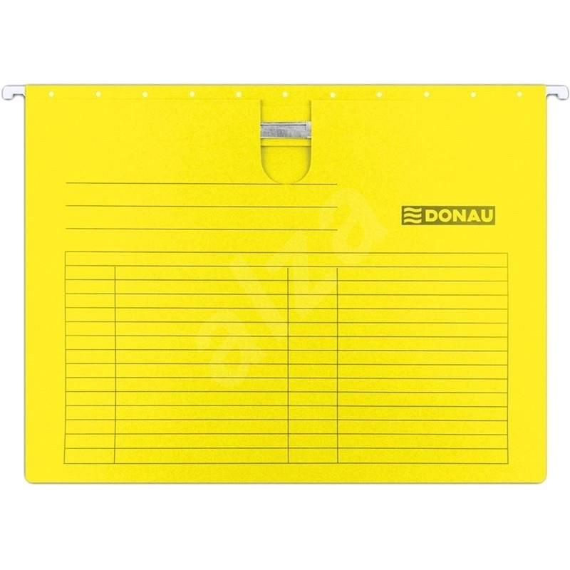 DONAU gyorsfűzővel A4, sárga - 5 db-os csomag - Függőmappa