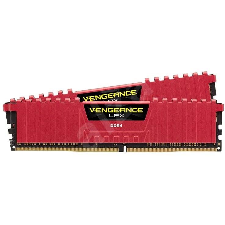 Corsair 16GB KIT DDR4 2666MHz CL16 Vengeance LPX piros - RAM memória