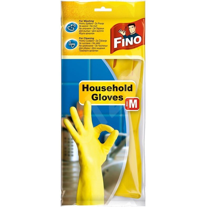 FINO Takarító kesztyű - M, Színkeverék - Gumikesztyűk