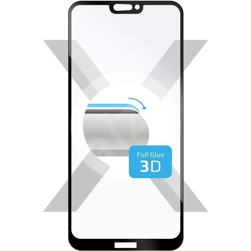 FIXED 3D Full-Cover Huawei P20 Lite készülékhez fekete - Képernyővédő