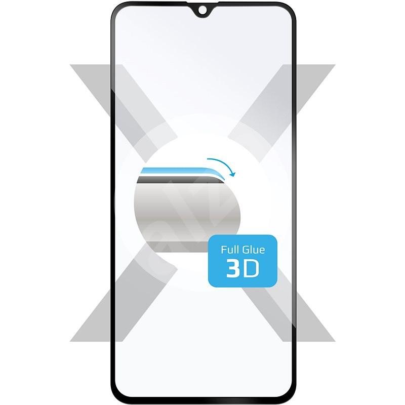 FIXED 3D FullGlue-Cover Samsung Galaxy A40-hez, fekete - Képernyővédő