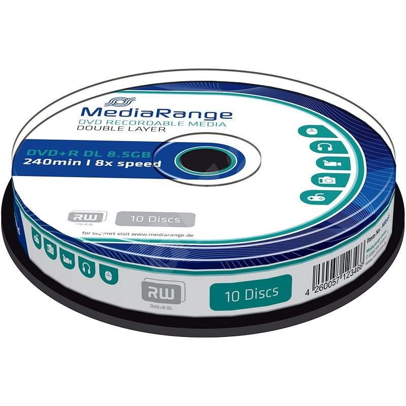 MediaRange DVD + R kétrétegű, 10 db hengeres tartóban - Média