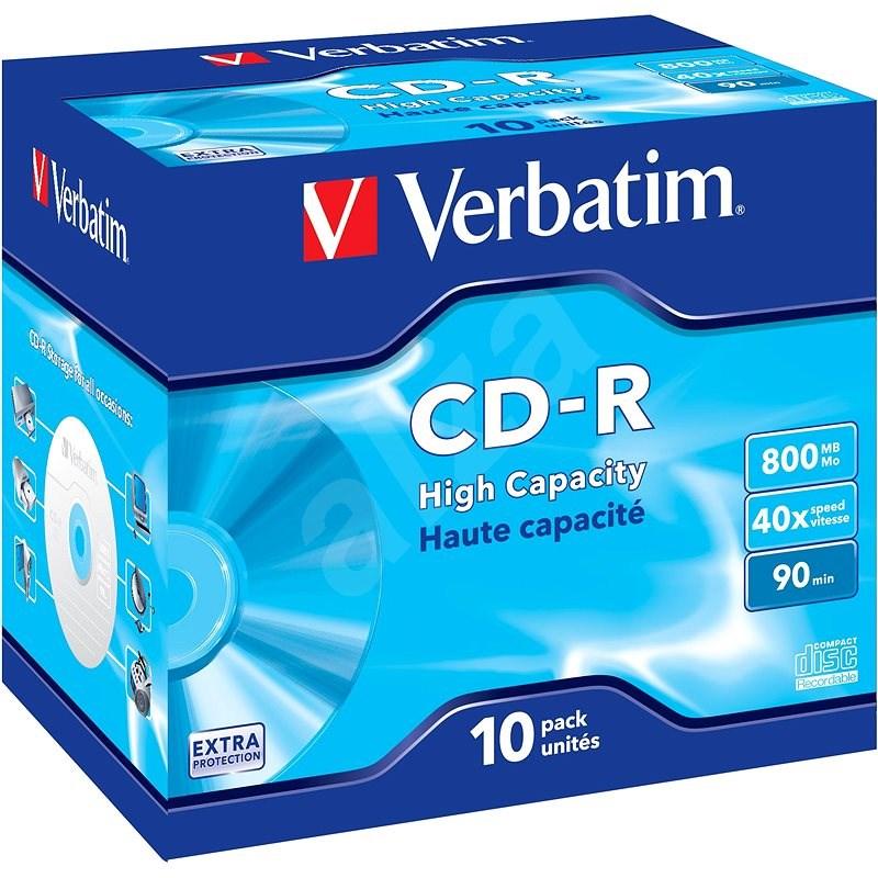 Verbatim CD-R 40x DataLife Protection, 40x 10 db egy dobozban - Média