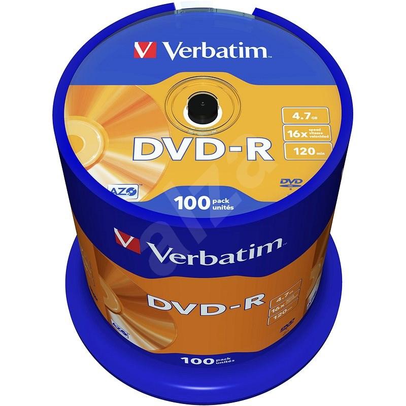 Verbatim DVD-R 16x, 100 db, cakebox - Média