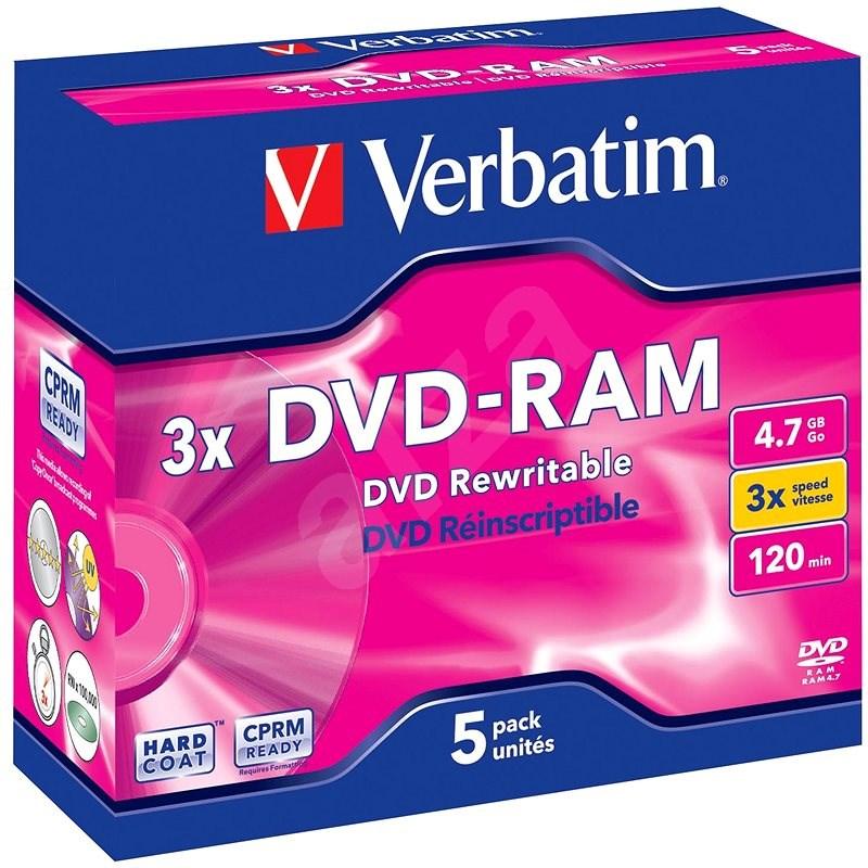 Verbatim DVD-RAM 3x, 5 db egy dobozban - Média