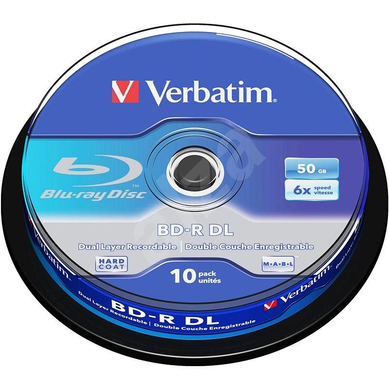 Verbatim BD-R 50GB Dual Layer 6x - 10db-os cakebox - Média