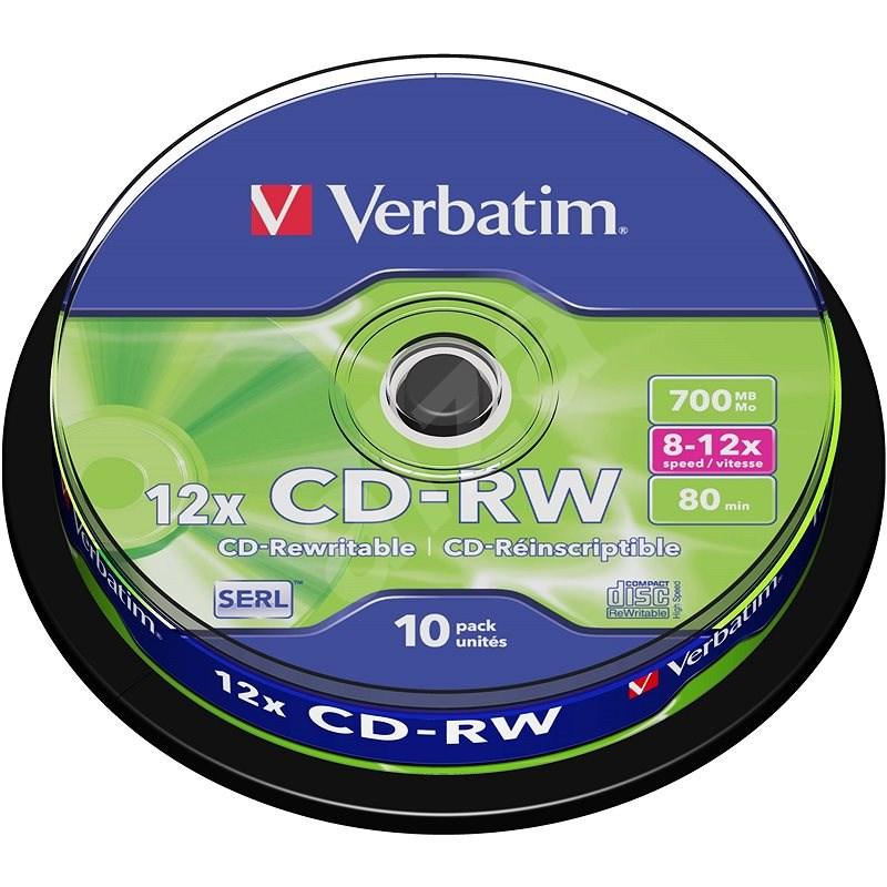 Verbatim CD-RW 10x, 10 db, cakebox - Média