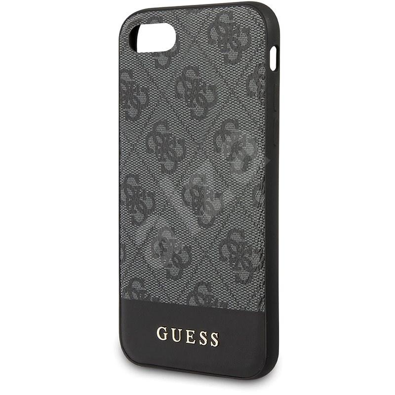 Guess 4G Stripe iPhone 7/8 / SE2020 szürke - Telefon hátlap