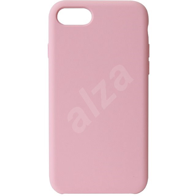 Hishell Premium Liquid Silicone tok iPhone 7/8/SE (2020) készülékhez - rózsaszín - Mobiltelefon hátlap