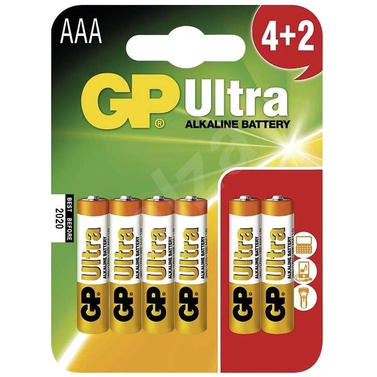 GP Ultra Alkaline LR03 (AAA) 4+2 db bliszter - Eldobható elem