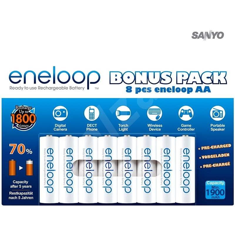 SANYO eneloop AA NiMH 1900mAh 8 pieces  - Rechargeable Battery