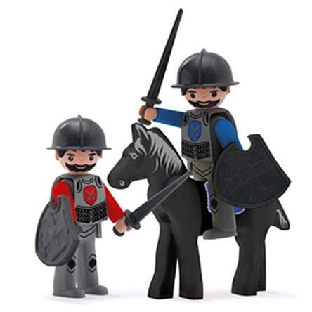 Igráček Trió - 2 lovag és egy fekete ló - Figura