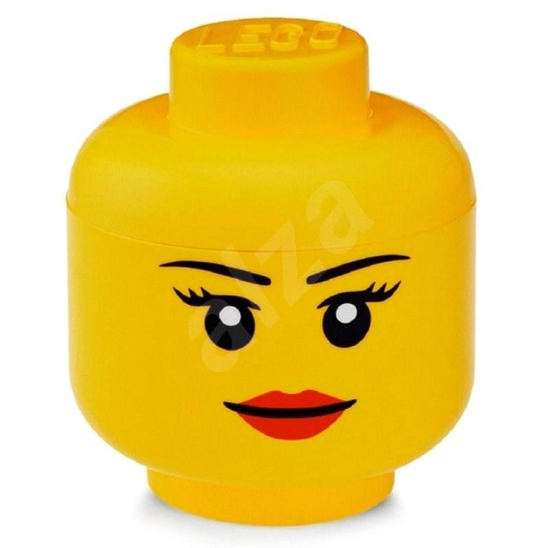 LEGO tárolófej (mini) - lány - Tároló doboz