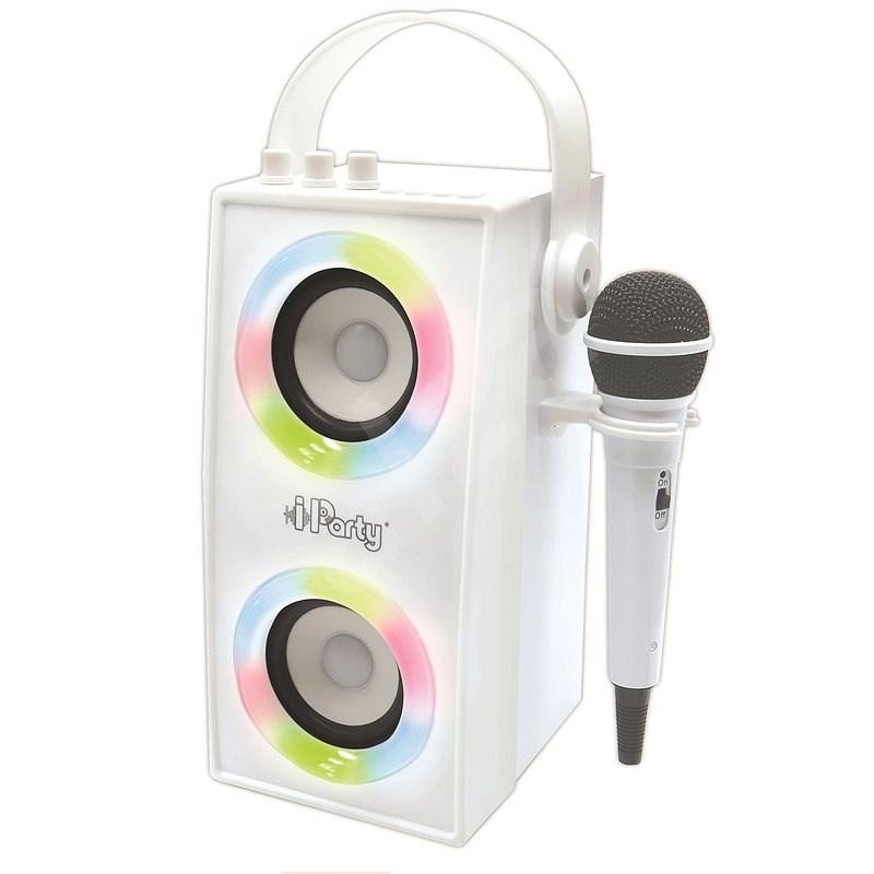 Lexibook iParty hordozható Bluetooth hangszóró mikrofonnal és fényhatásokkal - Zenélő játék