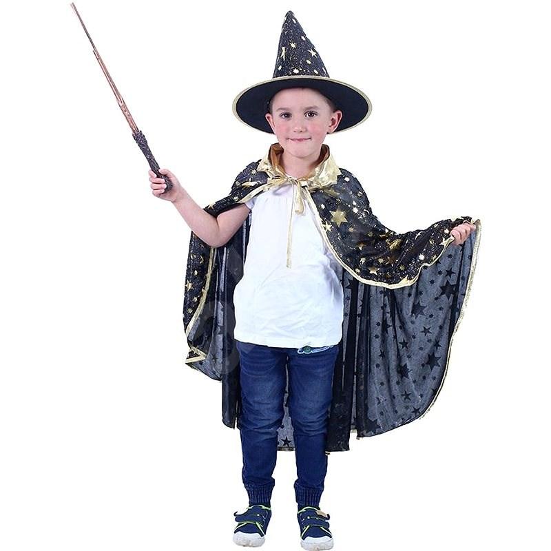 Rappa Fekete boszorkány köpeny kalappal - Gyerek jelmez