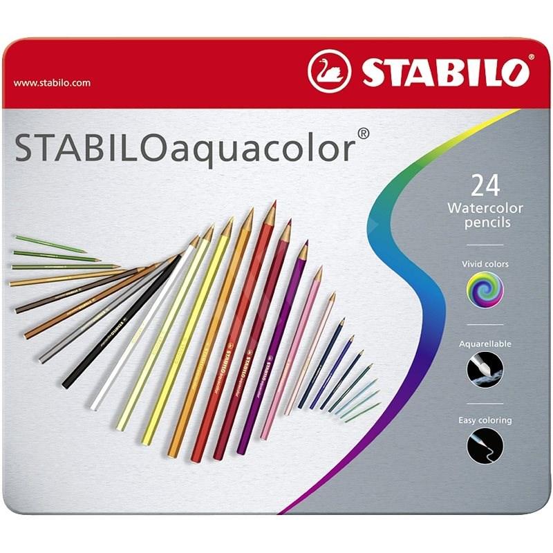 STABILOaquacolor 24 db fém tok - Színes ceruzák