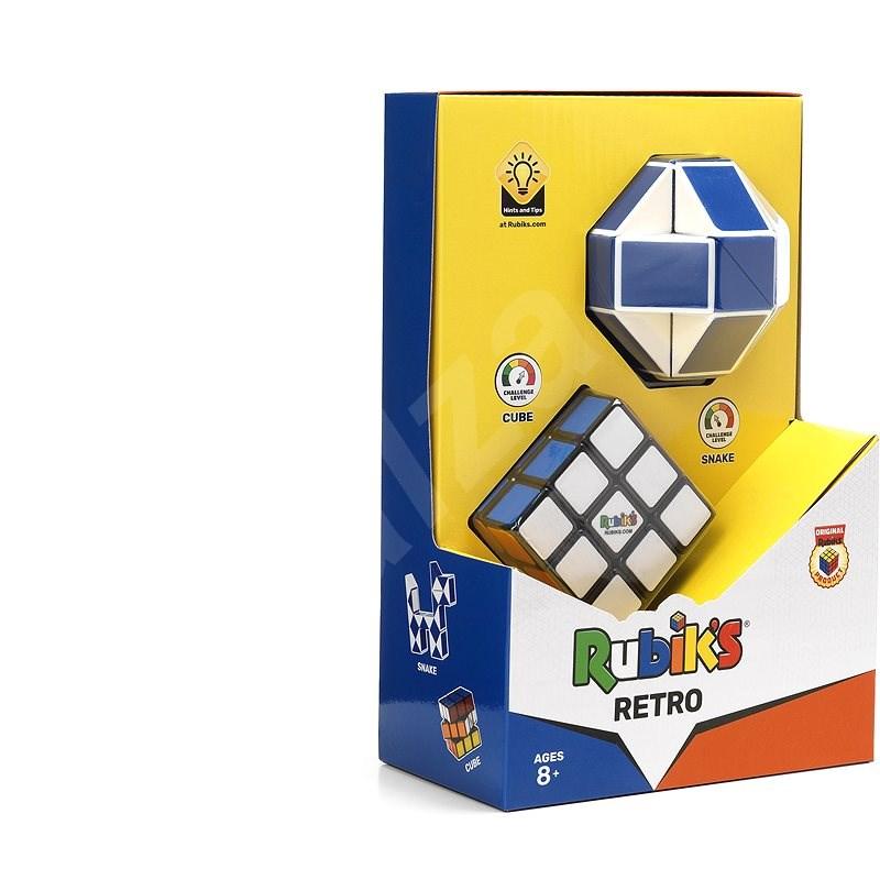 Rubik kocka szett Retro 3X3 + Twist - Fejtörő