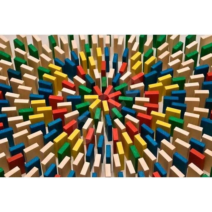 EkoToys Domino színes 430 db - Dominó