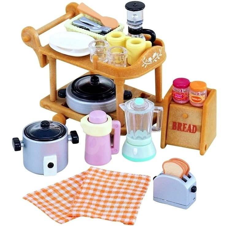 Sylvanian Families felszerelés - konyhai eszközök készlet - Figura kiegészítő