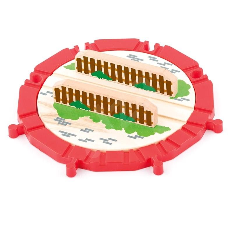 Woody kiegészítő pálya - nagy forgóasztal, fa/műanyag - Kisvasút