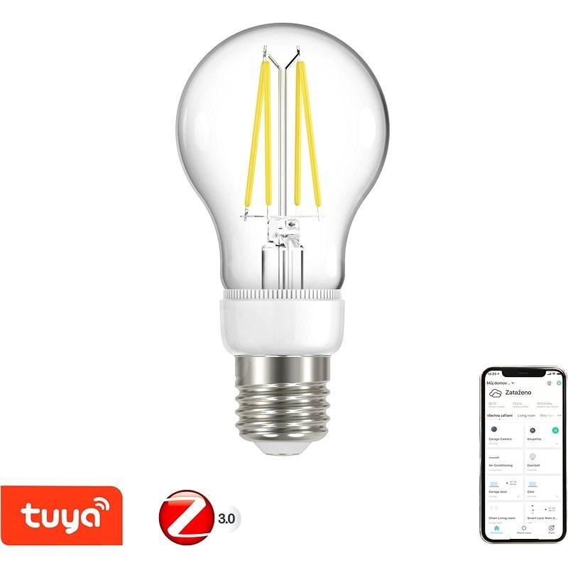 Immax Neo SMART filament E27 6,3W, meleg fehér, sötétíthető, Zigbee 3.0 - LED izzó