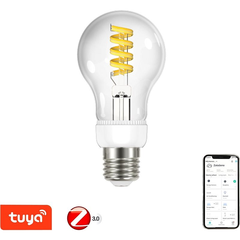 Immax Neo SMART LED filament E27 5W, meleg - hideg fehér, sötétíthető, Zigbee 3.0 - LED izzó