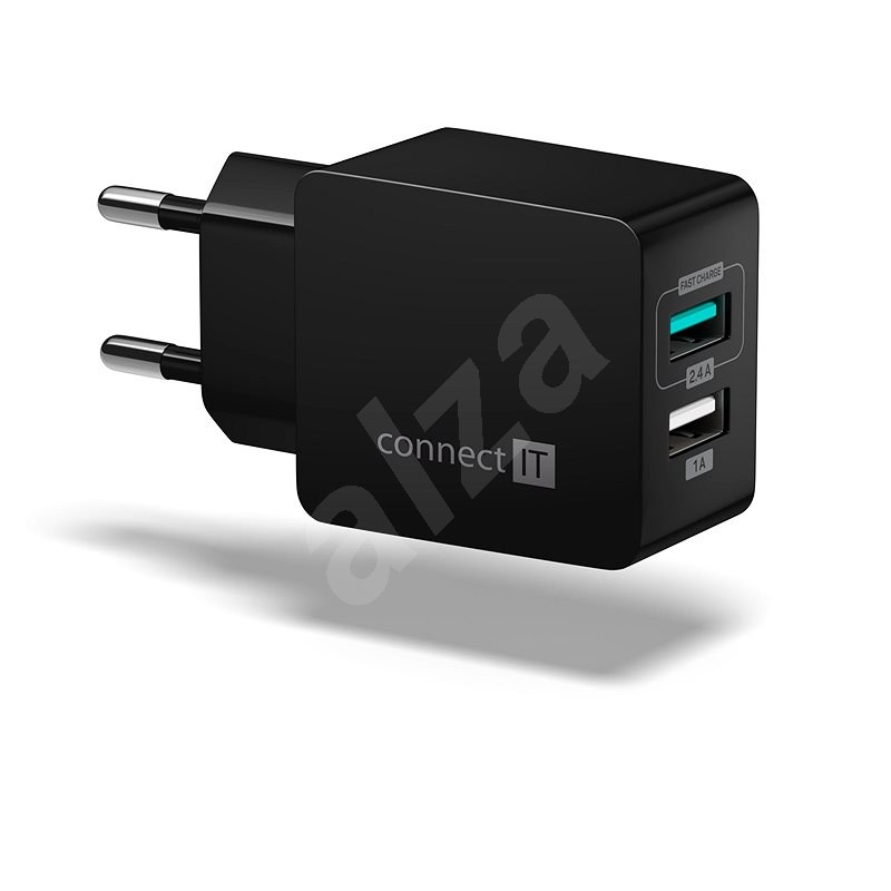 CONNECT IT Fast Charge CWC-2015-BK fekete - Hálózati adapter