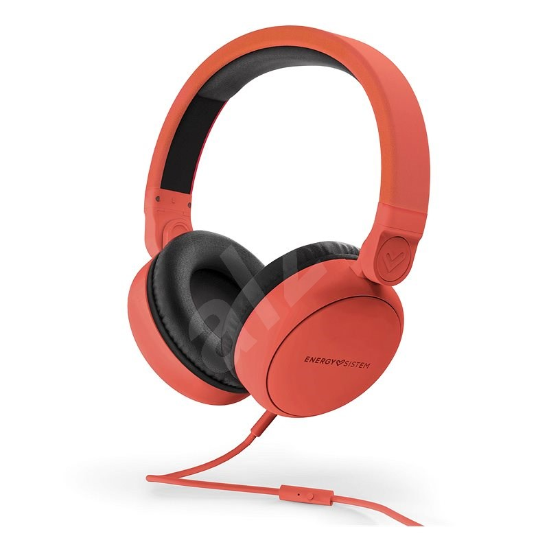 Energy Sistem Headphones Style 1 Talk Chilli Red - Fej-/fülhallgató