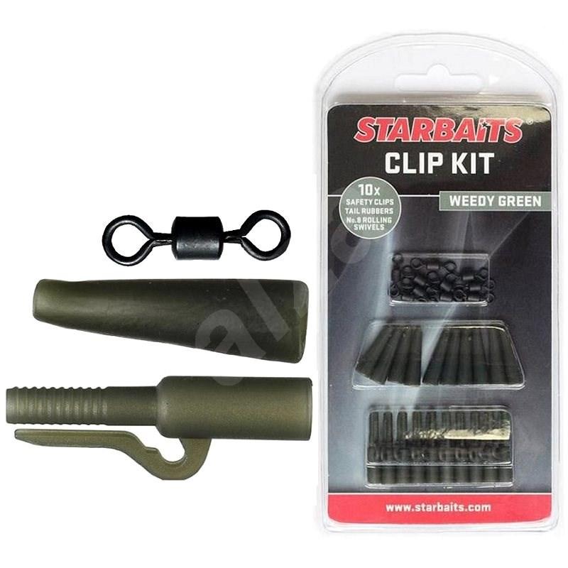 Starbaits Clip Kit készlet zöld 10db - Végszerelék