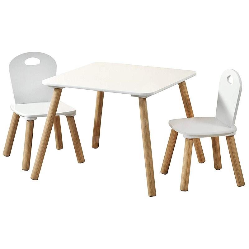 Kesper gyermekasztal két székkel - fehér - Játék bútor