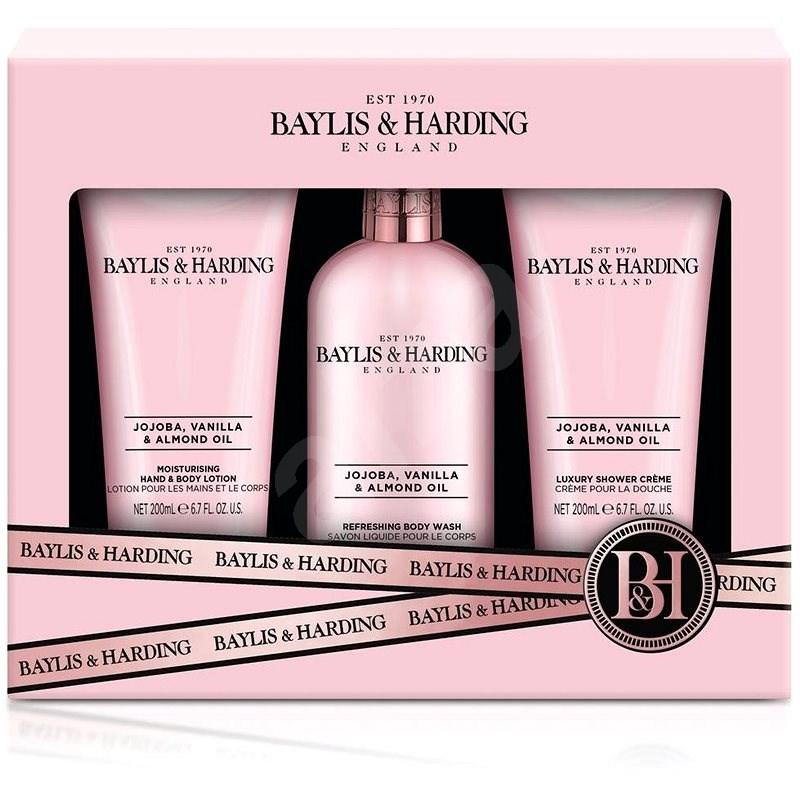 BAYLIS & HARDING Testápoló szett - Jojoba-, vanília- és mandulaolaj 3 × 200 ml - Kozmetikai ajándékcsomag