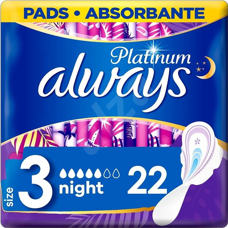 ALWAYS Platinum Night 22 db - Egészségügyi betét