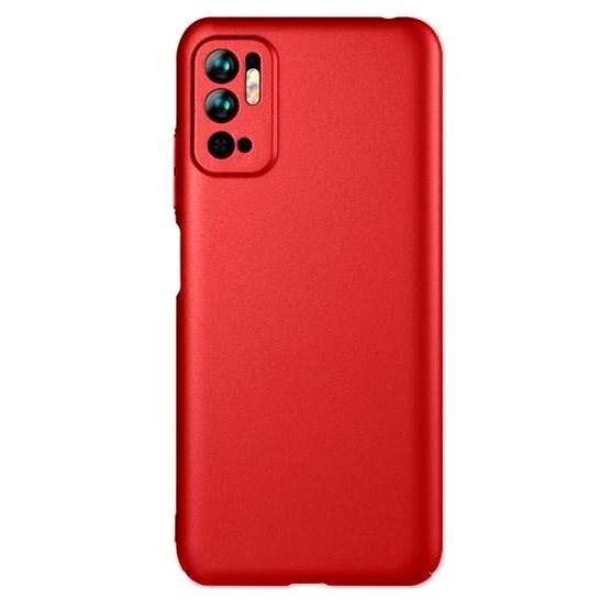 Lenuo Leshield Xiaomi Redmi Note 10 5G készülékhez - piros - Mobiltelefon hátlap