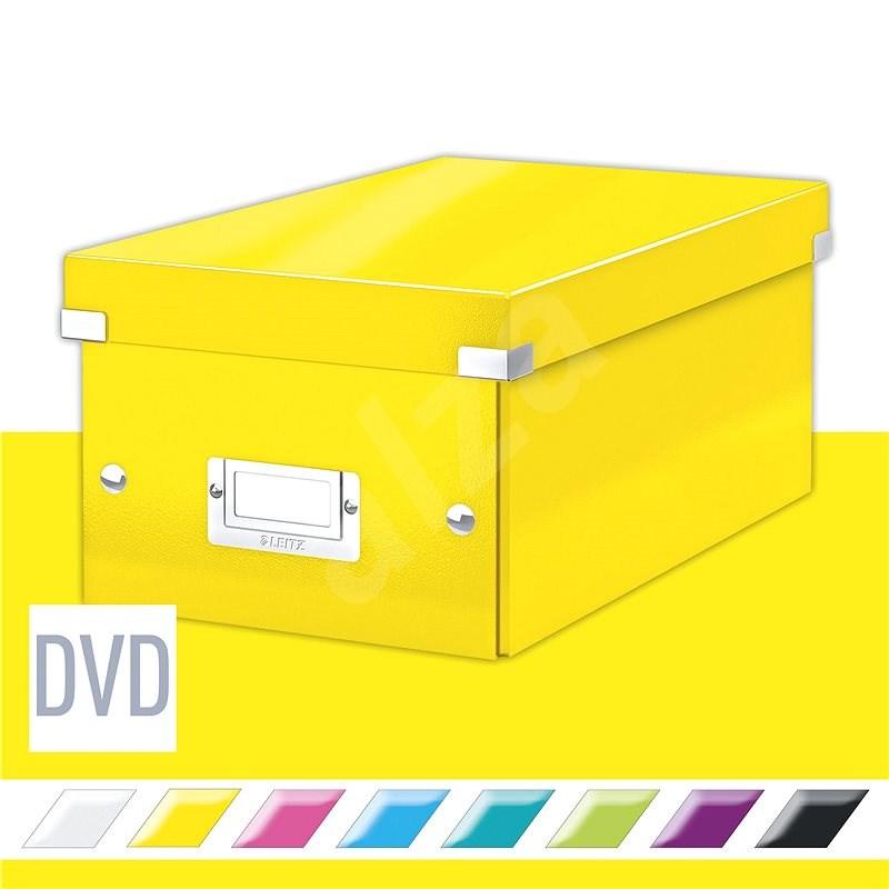 Leitz WOW Click & Store  DVD, 10,66 l, sárga - Archiváló doboz