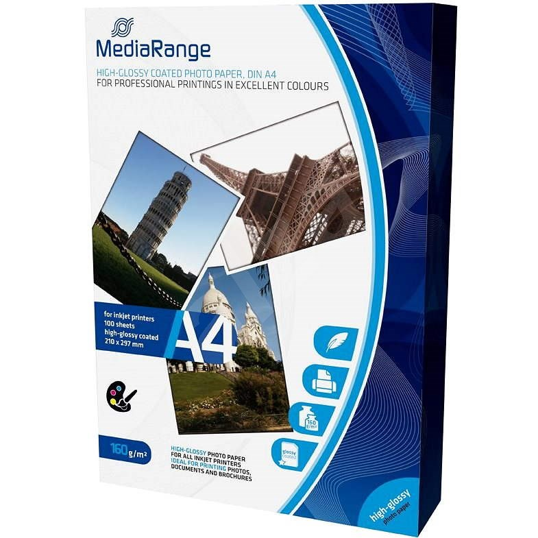 MEDIARANGE A4 100 darab, fényes - Fotópapír