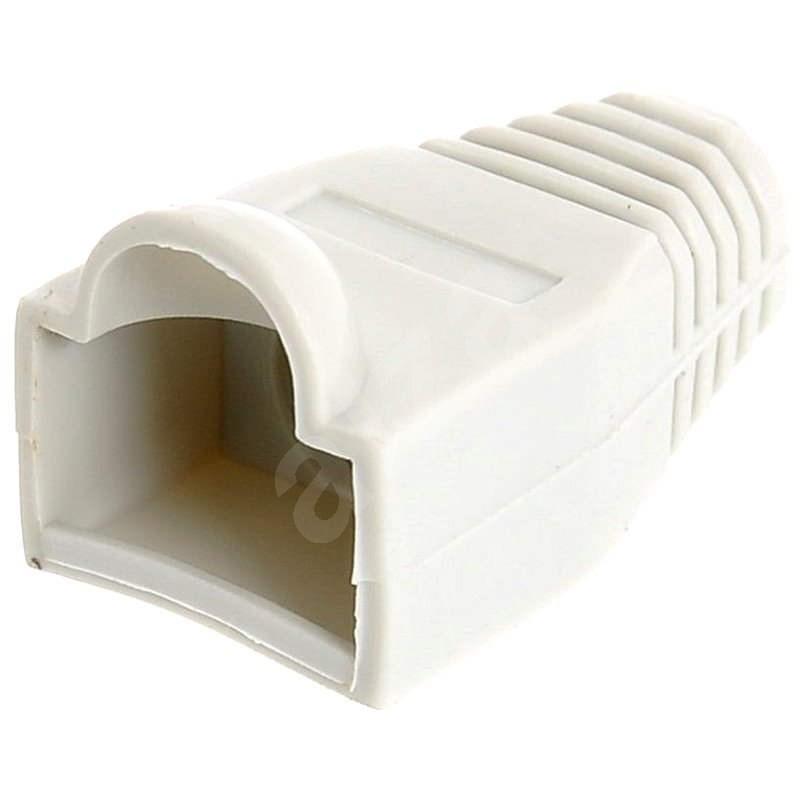 10-es csomag, műanyag, szürke, Datacom, RJ45 - Csatlakozó fedő