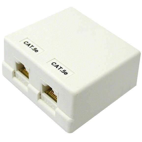 Datacom CAT5E UTP RJ45 2x felületre szerelt - Aljzat