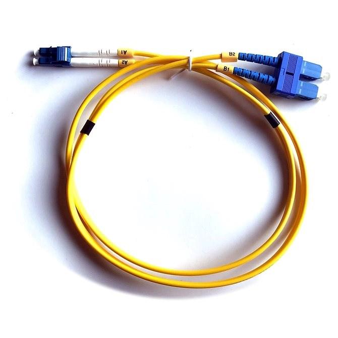 DATACOM LC-SC duplex 09/125 SM 1 m - Optikai kábel
