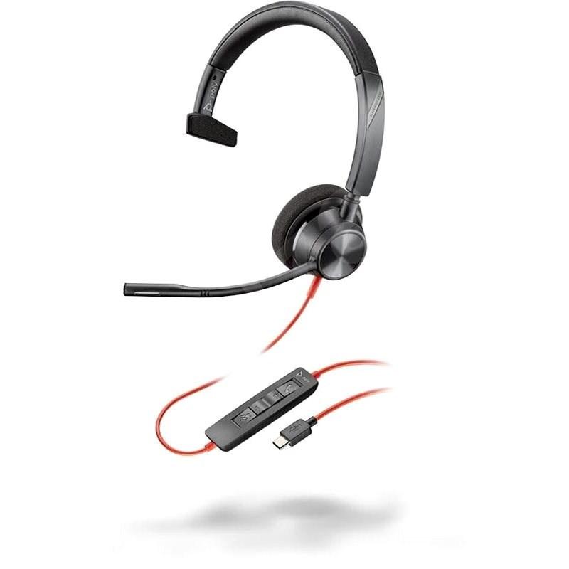 Poly BLACKWIRE 3310 Microsoft, C3310M, USB-C csatlakozó - Fej-/fülhallgató