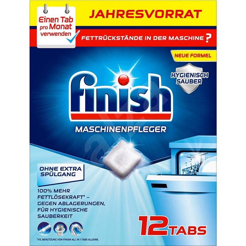 FINISH Mosogatógép tisztító tabletta, 12 db - Mosogatógép tisztító